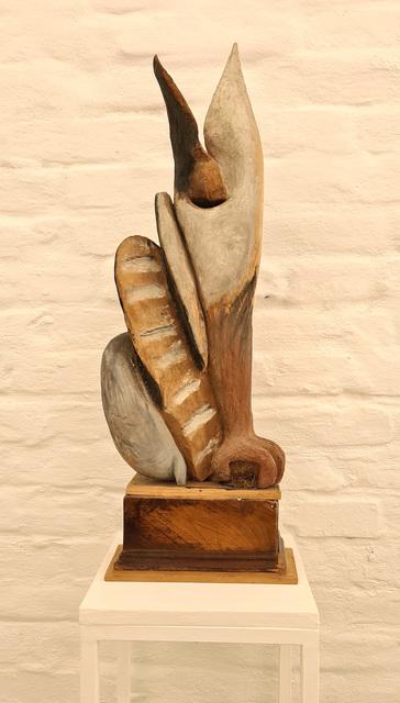 Kurt Hüpfner, 'Luchs', ca. 1995, Sculpture, Limewood, painted with oil paint, seaweed, Galerie Dantendorfer