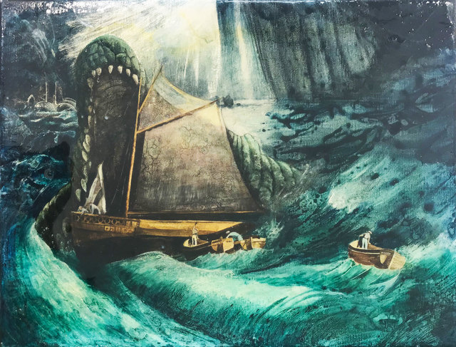 , 'Nightmare at Sea with Crocodile,' 2018, Pontone Gallery