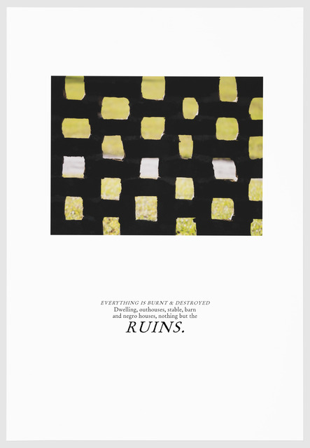 , 'RUINS,' 2016, Arnika Dawkins Gallery