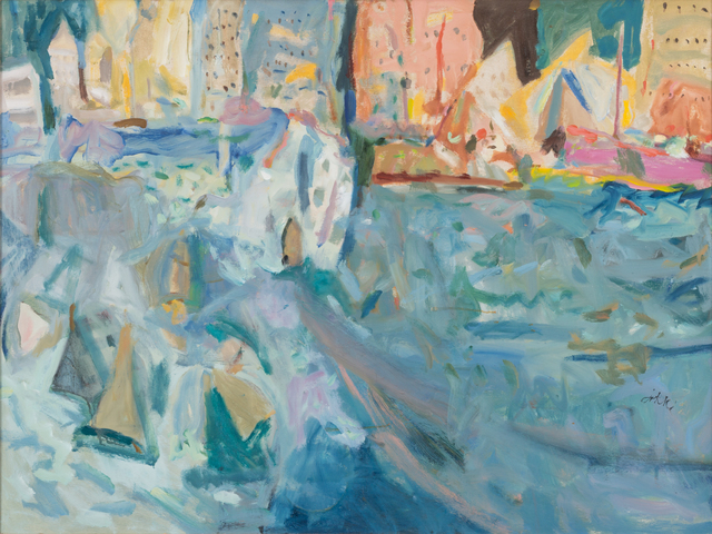 Zygmund Jankowski, 'City Harbor Landscape', n.d., Trident Gallery