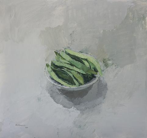 """Alberto Romero, '""""Cuenco con judías verdes""""', 2017, Sala Parés"""