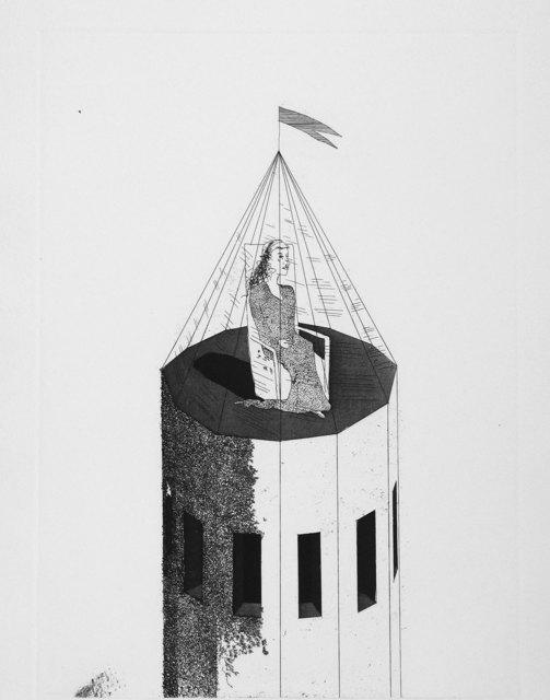 David Hockney, 'The Princess in her Tower', 1969, Print, Aquatint, Goldmark Gallery