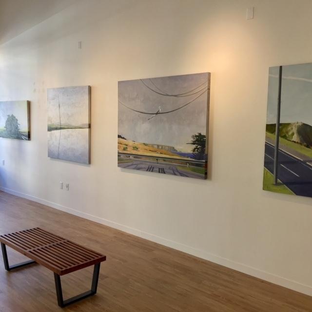 Stephen Namara oil on canvas paintings