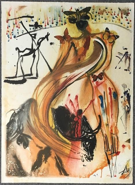 Salvador Dalí, 'Tauromachie Aux Papillons', ca. 1970, Wallector