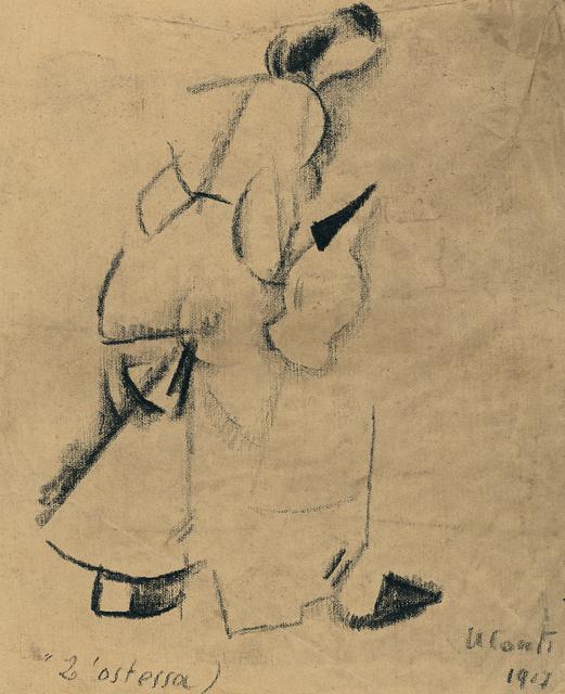 PRIMO CONTI, 'L'ostessa', 1917, OSART GALLERY