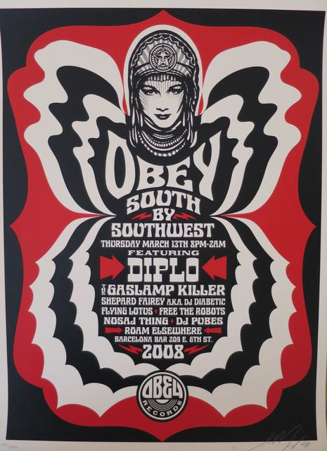 Shepard Fairey (OBEY), 'South by SouthWest', 2008, AYNAC Gallery