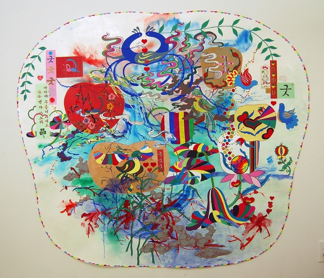 Jiha Moon, 'Big Pennsylvania Dutch Korean Painting', 2011, Curator's Office