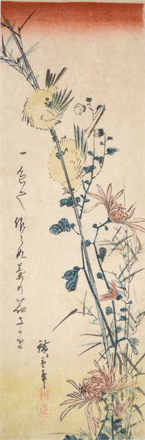 , 'Small Birds and Chrysanthemums,' ca. 1840, Ronin Gallery
