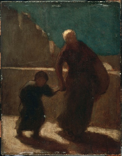 Honoré Daumier, 'On a Bridge at Night', Between 1845 and 1848, Phillips Collection