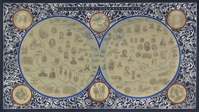 , ' Imago Mundi V. Goldsilver Map,' 2014, Ignacio Liprandi Arte Contemporáneo