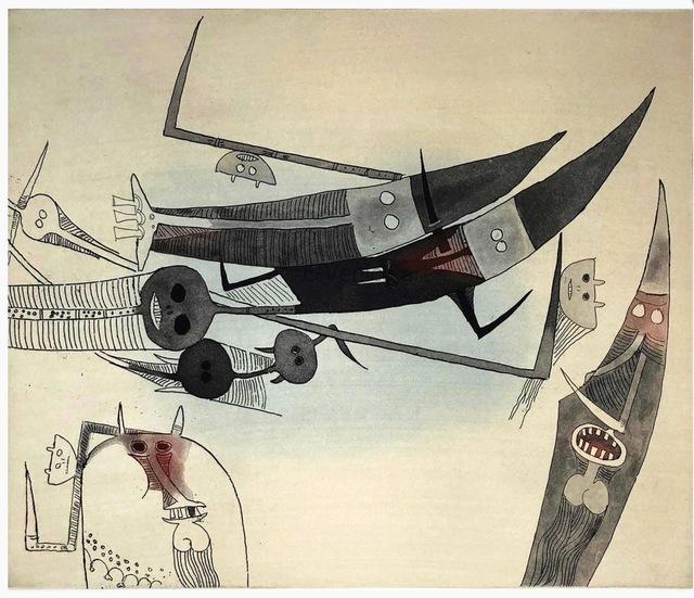 Wifredo Lam, 'Sans titre - XXe siecle plate #2', 1977, Kunzt Gallery