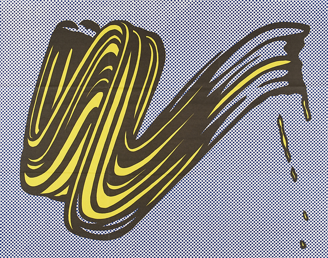Roy Lichtenstein, 'Brushstroke', 1965, Print, Offset lithograph in colors (mailer), Rago/Wright