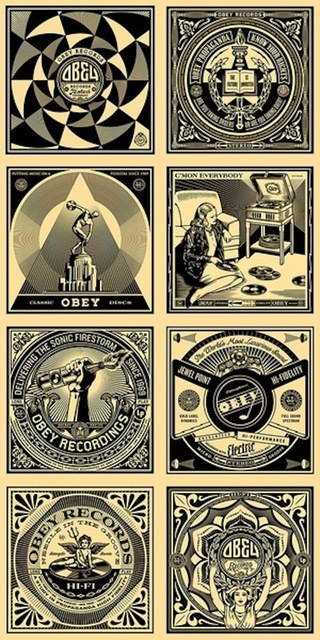 Shepard Fairey (OBEY), '50 Shades Of Black (Complete Set Of 8)', 2011, Maddox Gallery