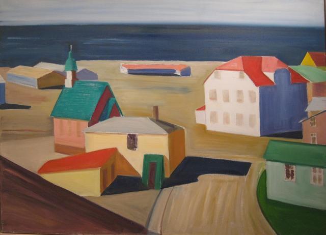 , 'Icelandic Village,' ca. 1991, Tibor de Nagy