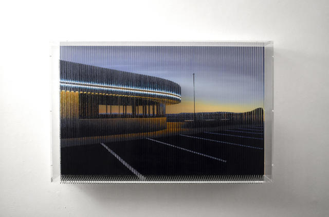 Robert Currie, '56,260cm of Nylon Monofilament and Coloured Acrylics (Sunset Car Park)', 2019, Bryce Wolkowitz Gallery