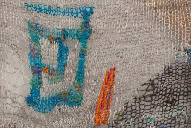 Channing Hansen, 'M: 1', 2018, Textile Arts, Hand spun, hand dyed wool; synthetic fibres; and redwood, Stephen Friedman Gallery