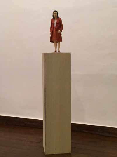 Stephan Balkenhol, 'Woman With Red Jacket', 2014, Pepe Cobo