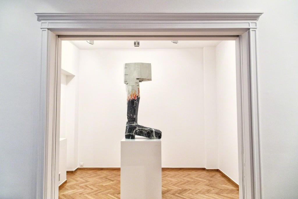 """Georg Baselitz | Mark Grotjahn: Natural Histories""  Installation view   Photo by Silia Psychi"