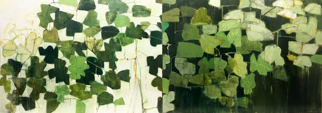 Reza Derakshani, 'Day and Night Green', 2019, Podgorny Robinson Gallery