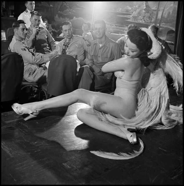 , 'A stripper at Club Samoa. New York City,' 1950, Magnum Photos