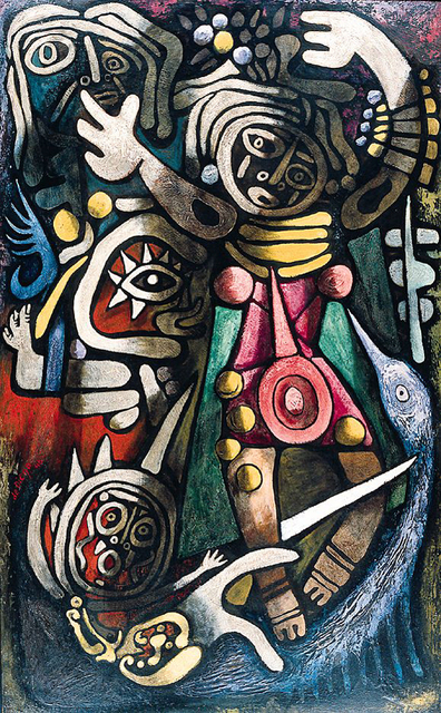 , 'Ceremonial Dancers,' 1948, Caldwell Gallery Hudson
