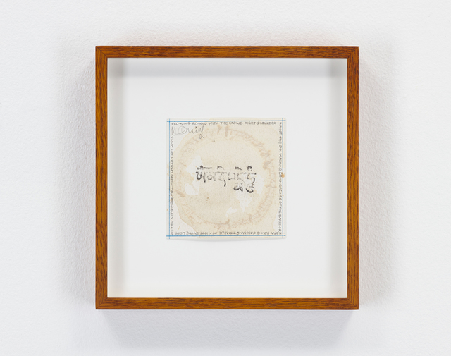 Hamish Fulton, 'Tea Ring, Tibet, 2007', 2007, Drawing, Collage or other Work on Paper, Tea ring and pencil text, Parafin