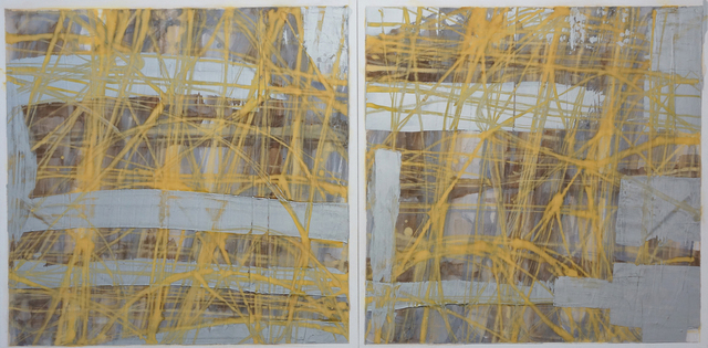 Robert Solomon, 'abstract diptych 1a12', 2017, The Painting Center