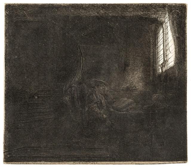 Rembrandt van Rijn, 'St. Jerome in a Dark Chamber', 1642, Forum Auctions