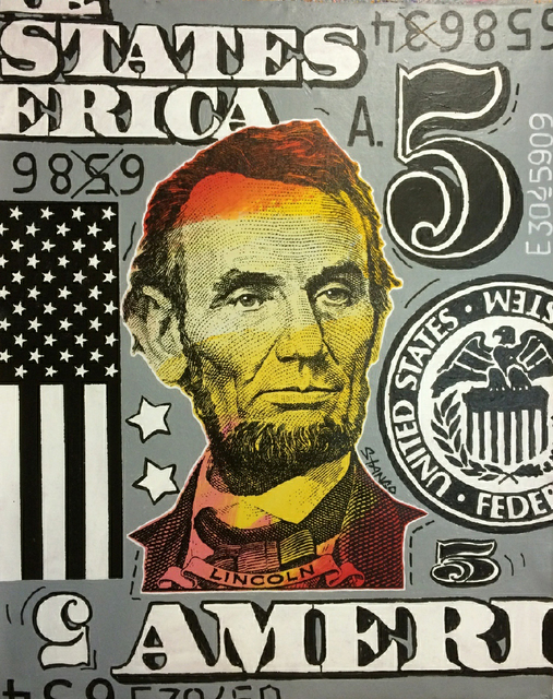 , 'Lincoln w-Flag and no.5,' 2018, Artist's Proof
