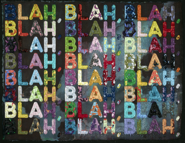 Mel Bochner, 'Blah Blah Blah', 2012, Drawing, Collage or other Work on Paper, Monoprint with Acrylic on Hand-made Paper, Vanessa Villegas Art Advisory