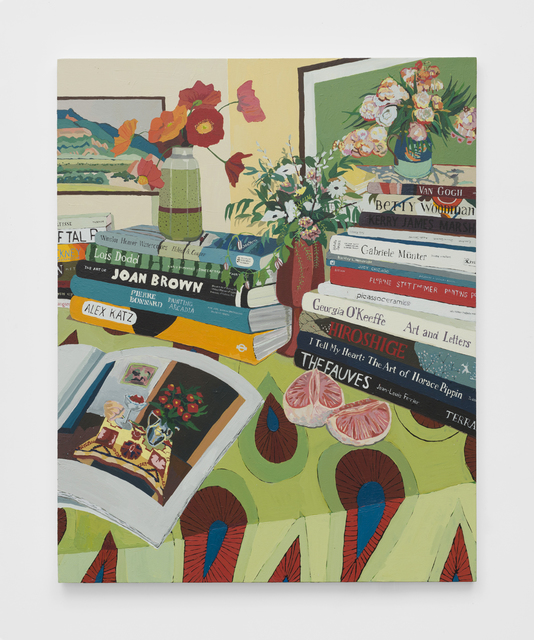 , 'Tables, Flowers, and Books,' 2019, The Pit