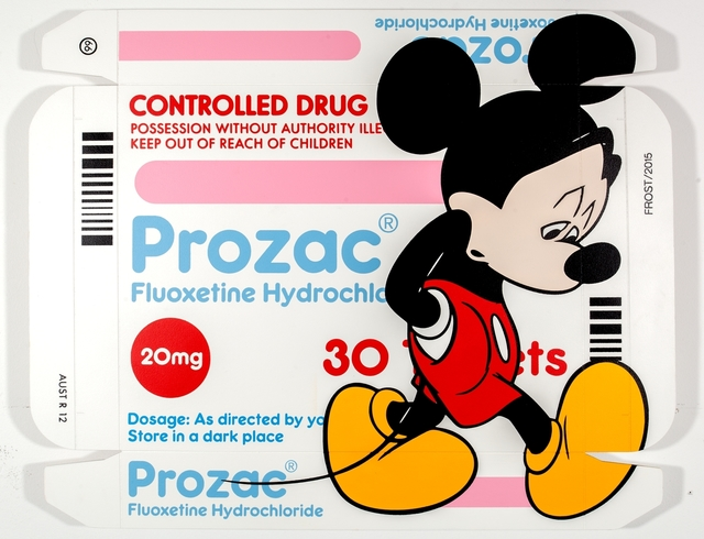 , 'Store In A Dark Place (Mickey on Prozac),' 2015, StolenSpace Gallery