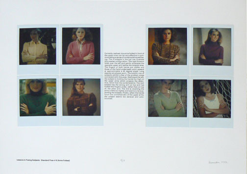 , 'Lessons in Posing Subjects: Standard Pose # 6 (Arms Folded),' 1982, Rhona Hoffman Gallery