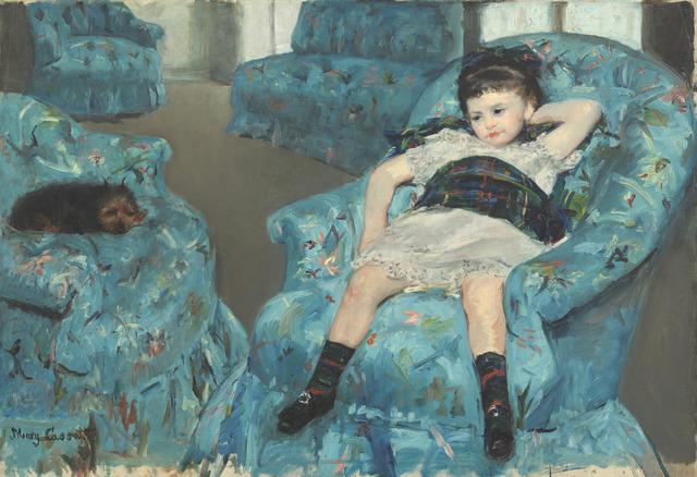 Mary Cassatt, 'Little Girl in a Blue Armchair,' 1878, National Gallery of Art, Washington, D.C.