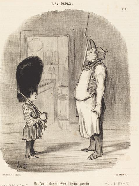 Honoré Daumier, 'Une Famille chez qui réside l'instinct guerrier', 1847, National Gallery of Art, Washington, D.C.