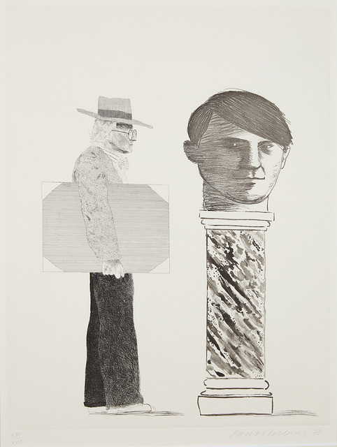 David Hockney, 'The Student: Homage to Picasso', 1973, Phillips