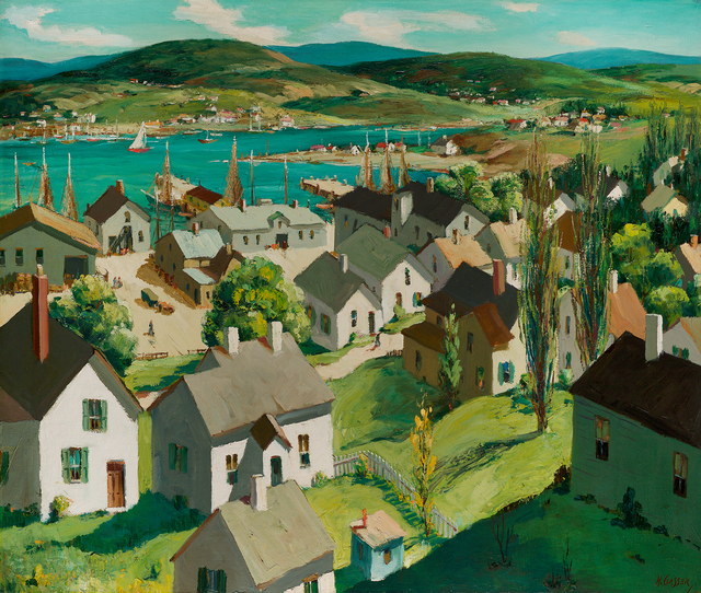 , 'July Harbor,' , Questroyal Fine Art