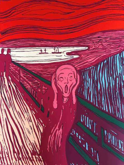 Andy Warhol, 'The Scream Pink - Sunday B. Morning (After)', Reproduction, Serigraph, ARTEDIO