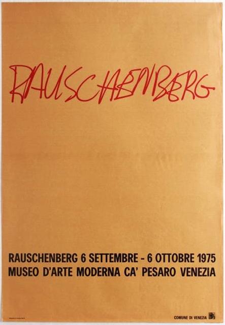 Robert Rauschenberg, 'Museo D'Arte Moderna, Ca' Pesaro Venezia ', 1975, Alpha 137 Gallery