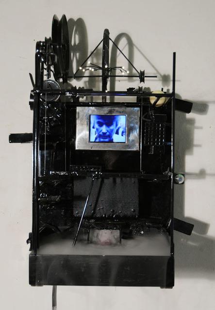Fabien Chalon, 'Mr Anselin', 2003, Sculpture, Metal, electronics, sound, wood, water vapor, Galerie Olivier Waltman | Waltman Ortega Fine Art
