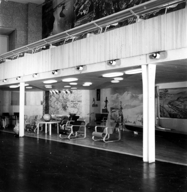 , 'Artek furniture in the Finnish pavilion at the New York World's Fair,' 1939, Bard Graduate Center Gallery
