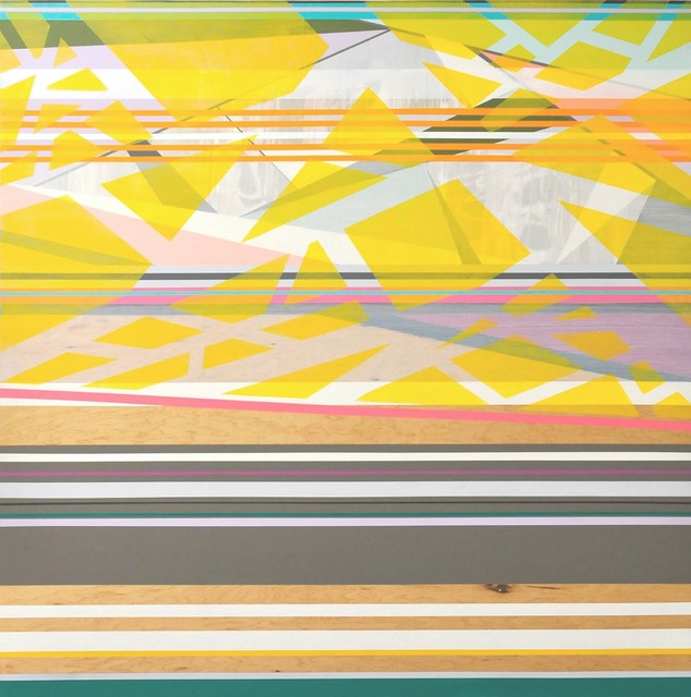 Michele Kishita, 'Sky's Perfect Cacophony', 2019, Painting, Latex on birch panel, InLiquid