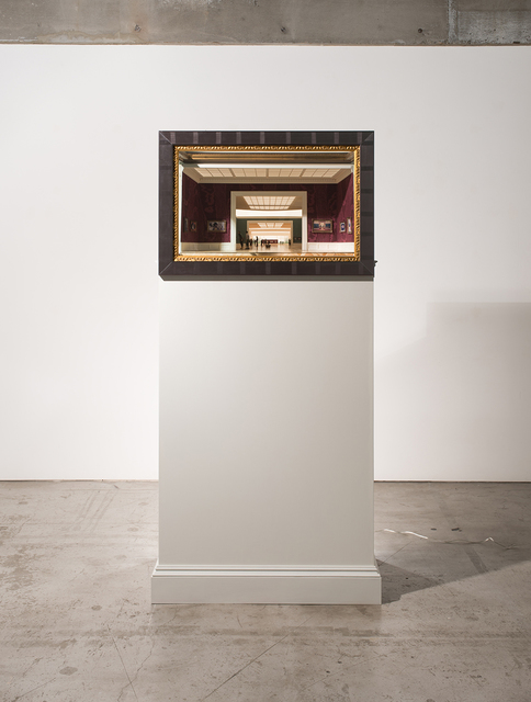 Kenji Sugiyama, 'Institute of Intimate Museums  Outside', 2015, Sculpture, Mixed Media (picture of past works, board, paper, mirror, frame, acrylic), Standing Pine