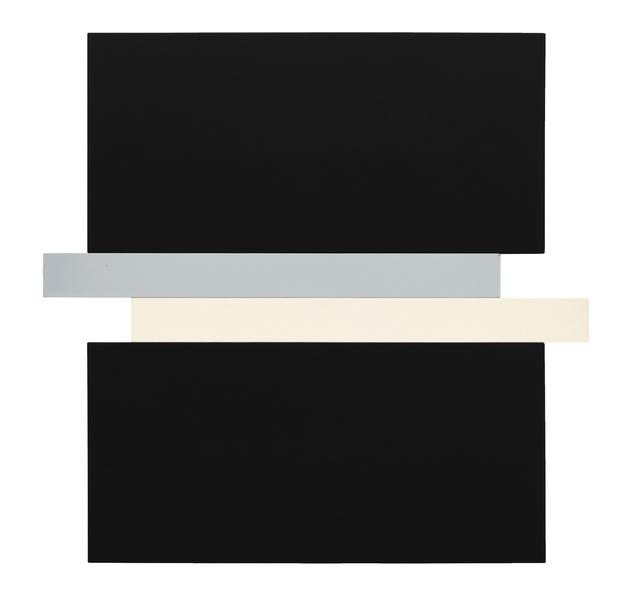 , 'Compression - Black, Grey, Canvas,' 2017, Peter Blake Gallery