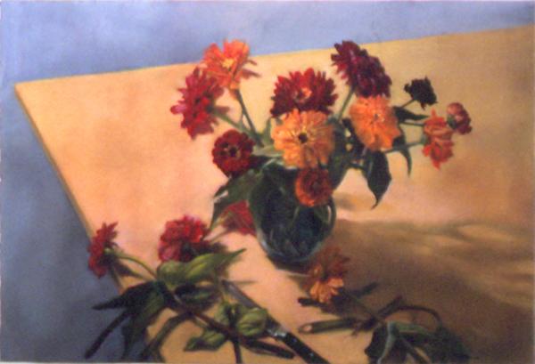 , 'Zinnias,' 1996, Atrium Gallery