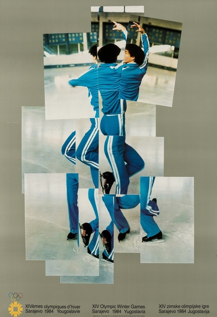 David Hockney, 'Skater (XIV Olympic Winter Games, Sarajevo) (Baggott 135)', 1982, Print, Offset lithograph printed in colours, Forum Auctions