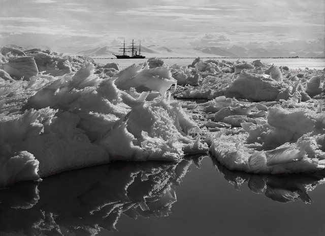 , 'BEAUTIFUL BROKEN ICE, REFLECTIONS AND THE TERRA NOVA, 7 JANUARY 1911,' 1911, Huxley-Parlour