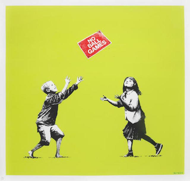 Banksy, 'No Ball Games (Green)', 2009, Maddox Gallery