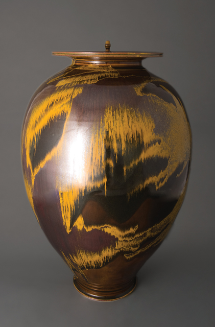 , 'Vase with alternate lids, iron yellow glaze,' , Pucker Gallery