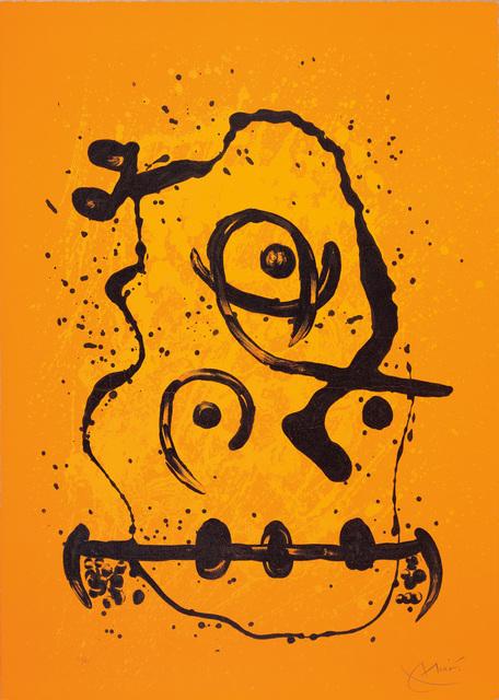 Joan Miró, 'L'Homme polyglot - orange (The Polyglot Man - Orange)', 1969, Phillips